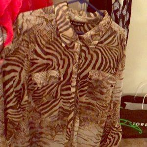 Baby Phat animal print blouse 3X